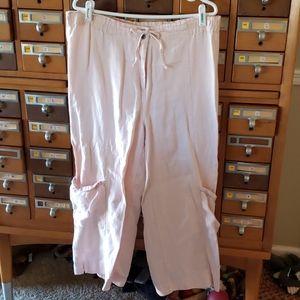 Pink J Jill linen pant